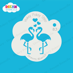 Picture of Kissing Flamingos - Dream Stencil - 83
