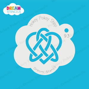 Picture of Celtic Heart Knot #2 - Dream Stencil - 93