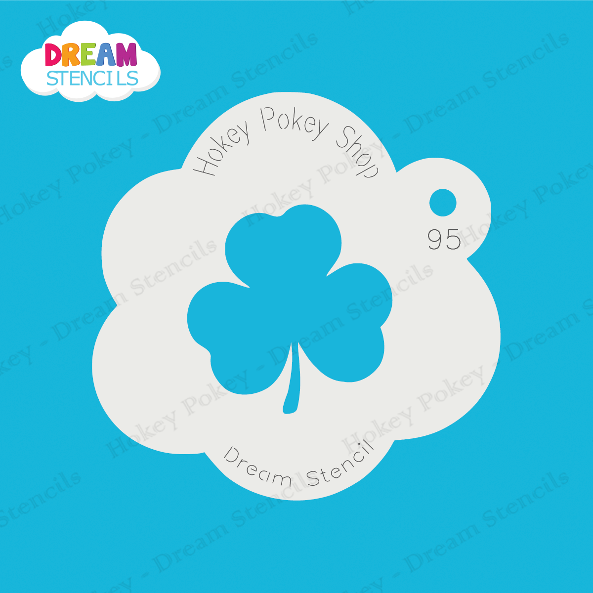 Picture of Three-Leaf Clover (Shamrock)  - Dream Stencil - 95