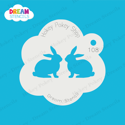 Picture of Twin Bunnies  - Dream Stencil - 108