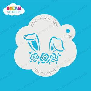 Picture of Bunny Ears with Flowers  - Dream Stencil - 119