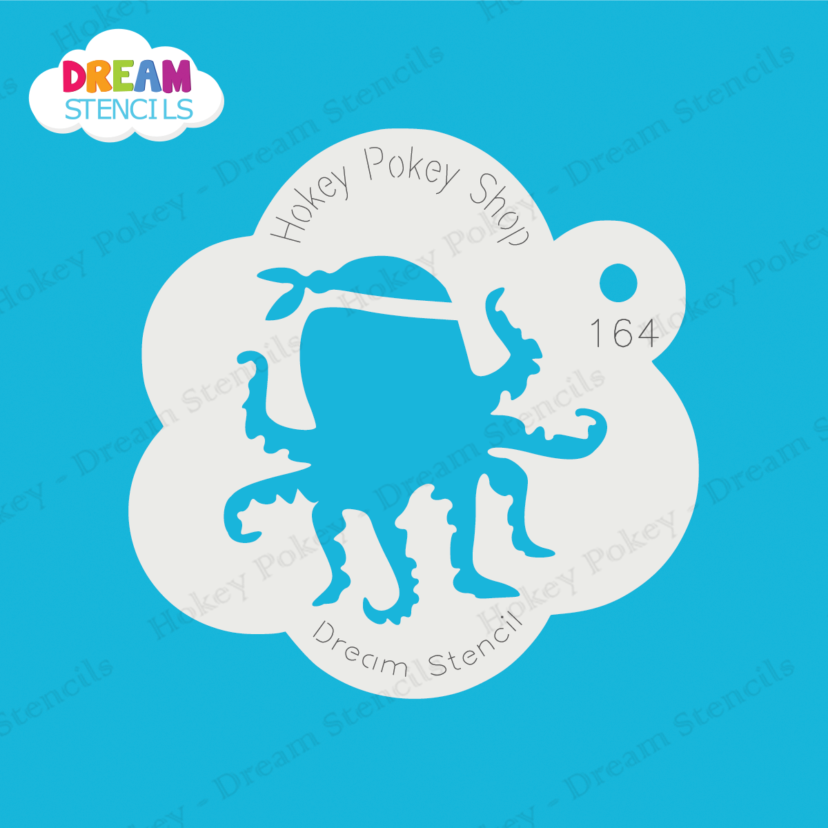 Picture of Pirate Octopus  - Dream Stencil - 164