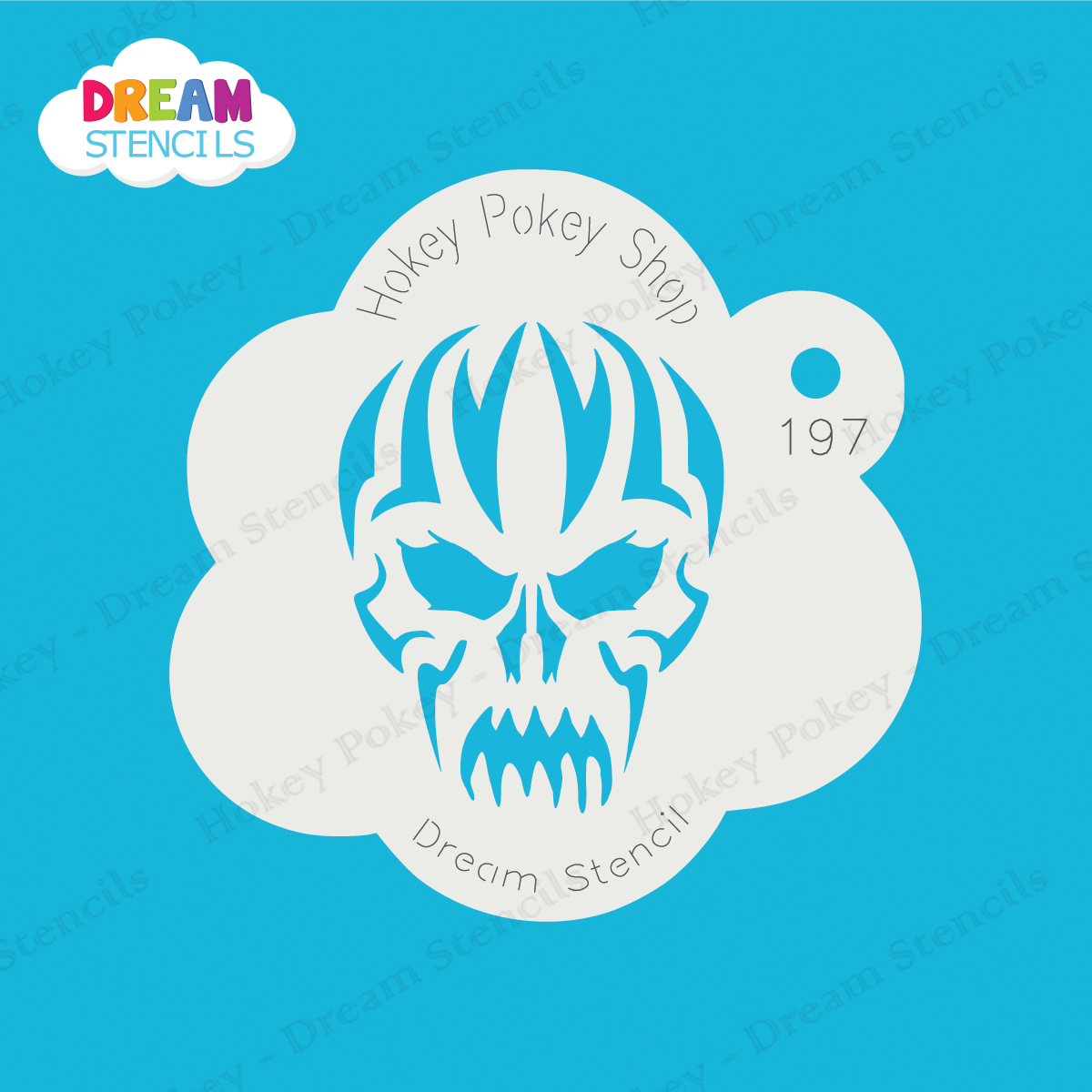 Picture of Tribal Evil Skull - Dream Stencil - 197