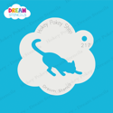 Picture of Stretching Cat  - Dream Stencil - 217