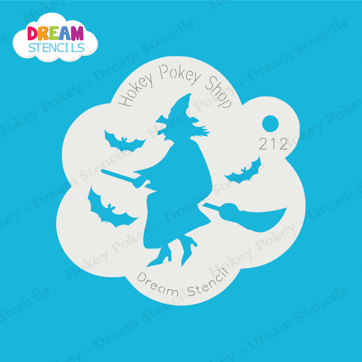 Picture of Witch With Bats - Dream Stencil - 212