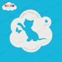 Picture of Playful Kitten With Butterfly  - Dream Stencil - 221