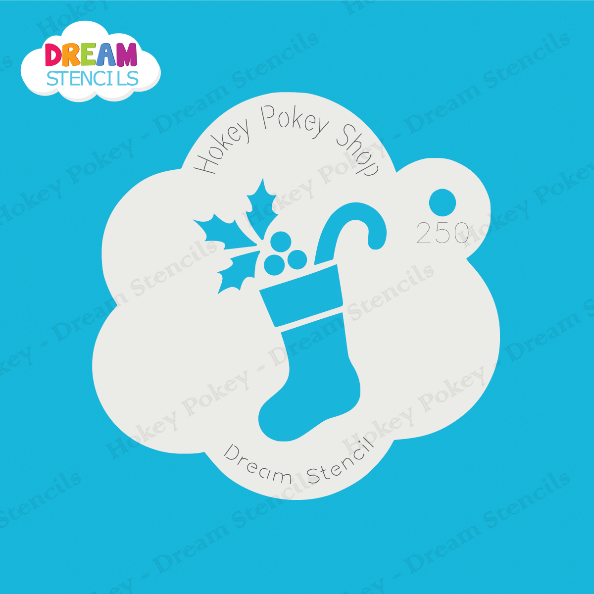 Picture of Christmas Stocking - Dream Stencil - 250