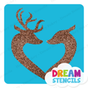 Picture of Deer in Love Glitter Tattoo Stencil - HP-214 (5pc pack)