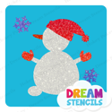 Picture of Jolly Snowman Glitter Tattoo Stencil - HP-211 (5pc pack)