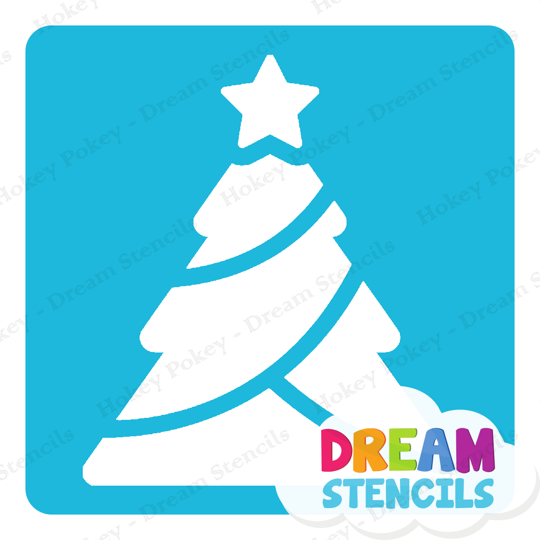 Picture of Classic Christmas Tree Glitter Tattoo Stencil - HP-215 (5pc pack)