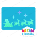 Picture of Santa's Sleigh Glitter Tattoo Stencil - HP-209 (5pc pack)