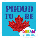 Picture of Proud To Be Canadian Glitter Tattoo Stencil - HP-223 (5pc pack)