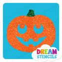 Picture of Pumpkin Cute Face Glitter Tattoo Stencil - HP-240 (5pc pack)