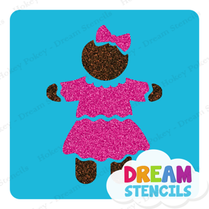Picture of Gingerbread Girl Glitter Tattoo Stencil - HP-242 (5pc pack)