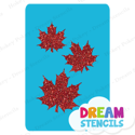Picture of Cascading Fancy Maple Leaves Glitter Tattoo Stencil - HP-250 (5pc pack)