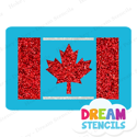 Picture of Canada Flag Glitter Tattoo Stencil - HP-251 (5pc pack)