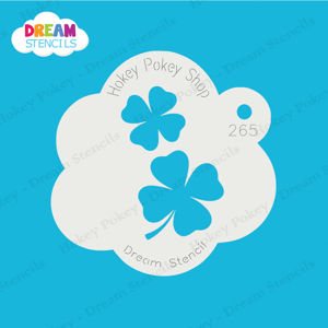 Picture of Two Lucky Four-Leaf Clovers  - Dream Stencil - 265