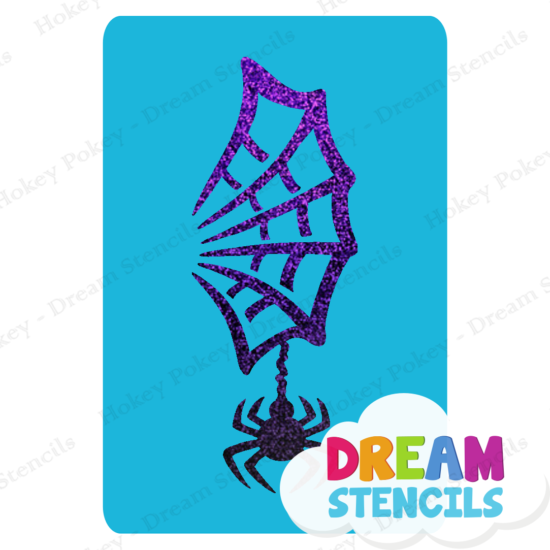 Picture of Spider & Web Glitter Tattoo Stencil - HP-275 (5pc pack)