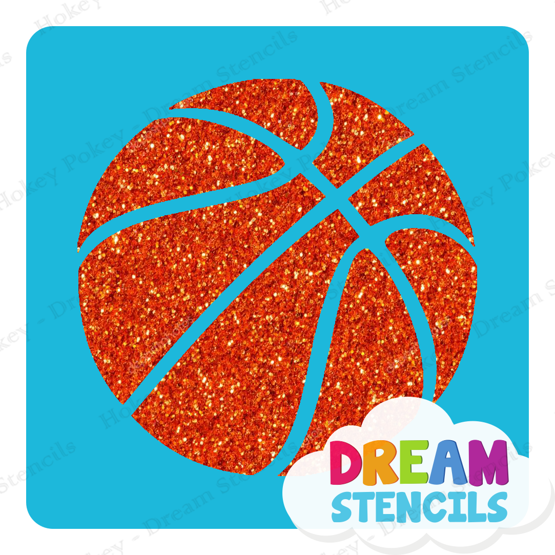 Picture of Basketball Glitter Tattoo Stencil - HP-280 (5pc pack)