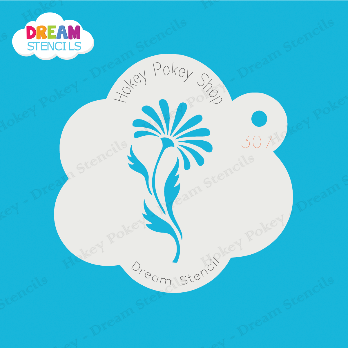 Picture of Daisy with Leaves - Dream Mylar Stencil - 307
