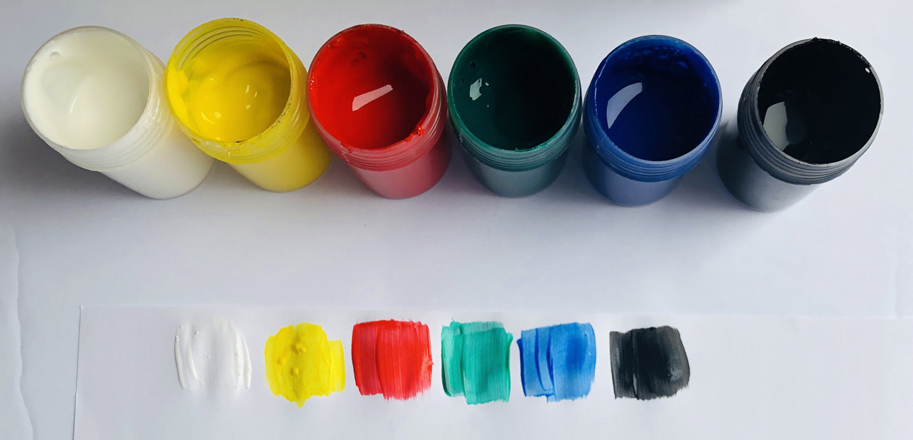 Picture of Krafty Kids  Poster Paint 6-Pots - Primary ( GP180A )